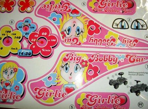 BIG Bobby-Car-Classic Girlie Aufkleber