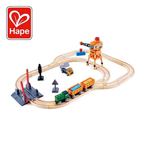 Hape Bahnübergang & Kran-Set
