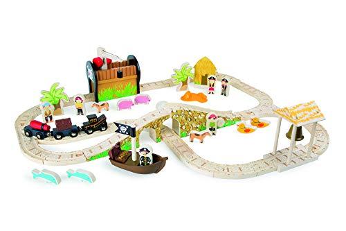 Small Foot - Eisenbahnset Pirateninsel
