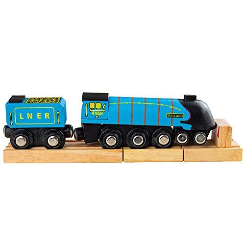 Bigjigs Rail Heritage-Kollektion Lokomotive Mallard Blau