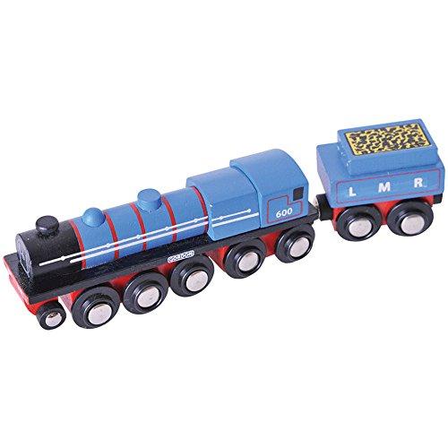 Bigjigs Rail Heritage-Kollektion Lokomotive Mit Tender Gordon Blau
