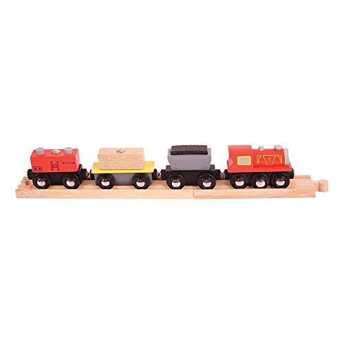 Bigjigs Rail Frachtzug auf 2 Schienen