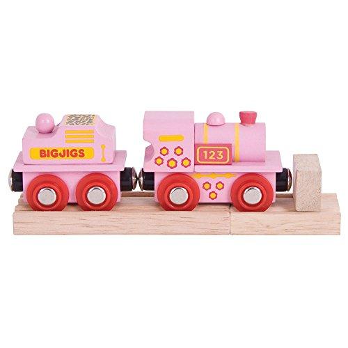 Bigjigs Rail Lokomotive Rosa Mit Tender