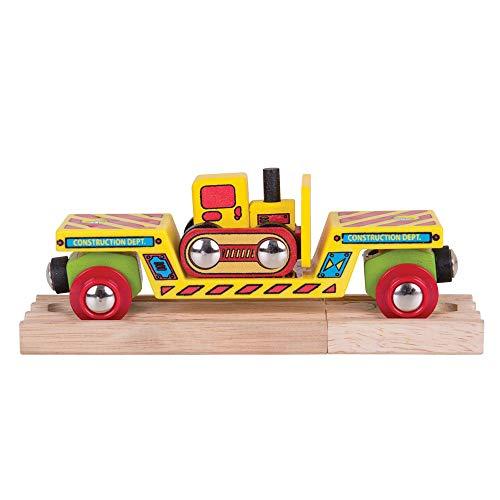 Bigjigs Rail Waggon Mit Bulldozer