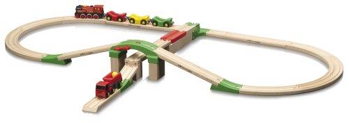 Eichhorn - Holz-Bahn mit Laderampe