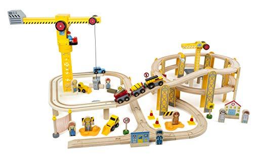 Small Foot - Holzeisenbahnset Baustelle