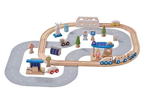 EverEarth - Eisenbahn-Set ökologische Stadt