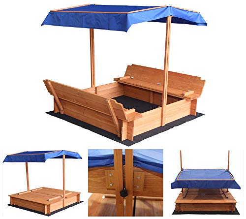Home Deluxe - Sandkasten Buddelkiste - Maße: 130 x 120 x 120 cm