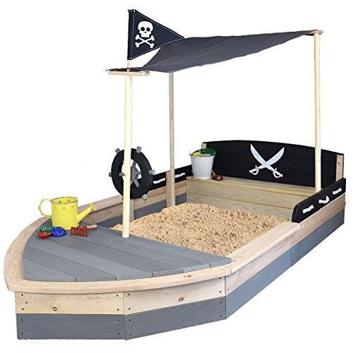 SUN Sandkasten Boot Pirat XXL aus Holz