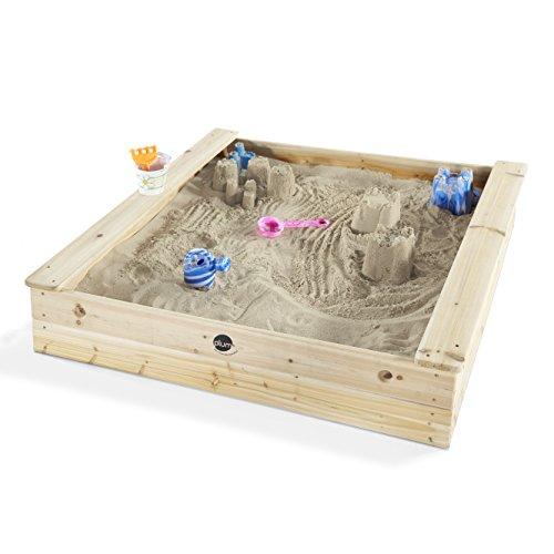 Plum quadratischer Kinder Holz Sandkasten mit Sitzbänken