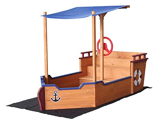Home Deluxe - Segelschiff inkl. Bodenplane - Maße: 160 x 78 x 103 cm