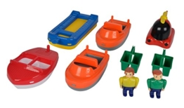 Aquaplay 8700000248 - Bootmix mit 5 Boote und 2 Figuren -